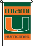 Miami Hurricanes 2-Sided Garden Flag