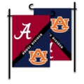 Alabama - Auburn 2-Sided Garden Flag - House Divided