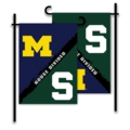 Michigan - Michigan State 2-Sided Garden Flag - House Divided