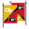 Georgia - Georgia Tech 2-Sided Garden Flag - House Divided