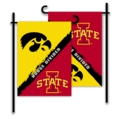 Iowa - Iowa State 2-Sided Garden Flag - House Divided