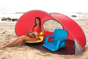 Manta Sun Shelter on Beach