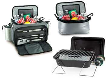 Vulcan Grill and Cooler Barbecue Tote Set